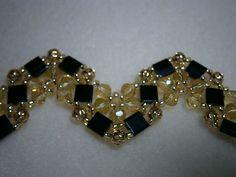 Items similar to Tila Beaded Bracelet & Earrings With Swarovski Crystals on Etsy