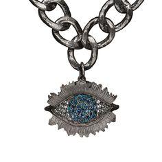Psycho alone blue diamond necklace – Bjarne Melgaard +Bjørg Jewellery Jewelry Art, Fine Jewelry, Jewellery, Eye Necklace, Pendant Necklace, Blue Diamond Necklace, Collaboration, 925 Silver, Plating
