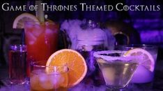 Whether you're throwing a themed Game of Thrones wedding, a party for the season four finale, or just a get together with your friends for a marathon, these 7 Game of Thrones themed cocktails will be a hit. Drink responsibly and winter is coming..