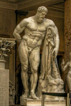 Farnese Hercules, ancient Roman sculpture, 216 AD, at one time in the courtyard of the Palazzo Farnese, Rome. Ancient Rome, Ancient Art, Ancient History, Roman Sculpture, Art Sculpture, Roman History, Art History, History Memes, Hercules Statue