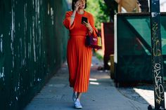 New York Fashion Week's Street Style Stars Are Still Dressing Like It's Summer in Miniskirts and Crop Tops Photos   W Magazine