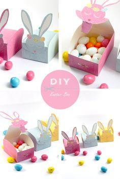 Boîtes pour œufs de Pâques à imprimer