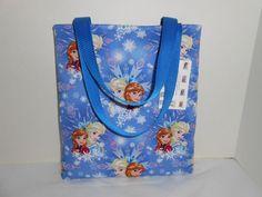Kids Frozen Sisters Cotton Fabric Tote Bag Handmade Handbag shopper New #Handmade #totecarrybag