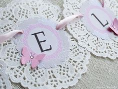 Simply click the link for more information on shabby chic farmhouse Doilies Crafts, Paper Doilies, Cumpleaños Shabby Chic, Diy And Crafts, Paper Crafts, Baptism Party, Baby Birthday, First Birthdays, Tea Party