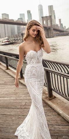 berta spring 2018 bridal strapless sweetheart neckline full embellishment elegant sexy sheath wedding dress poen back sweep train (11) zv -- Berta Spring 2018 Wedding Dresses