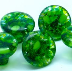 GREEN fused glass cabinet hardware knobs dresser drawer pulls door handle pull decorative kitchen knobs torch lake unique handmade eclectic