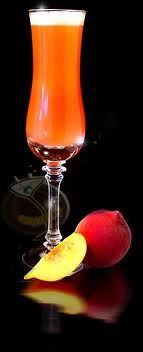Italian Bellini Drink. Champagne and peach juice. Simple, elegant as all Italian things are. Enjoy it through the summer!