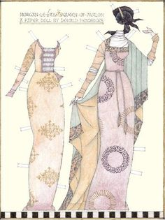 Morgan Le Fay*** Paper dolls for Pinterest friends, 1500 free paper dolls at Arielle Gabriel's International Paper Doll Society, writer The Goddess of Mercy & The Dept of Miracles, publisher QuanYin5
