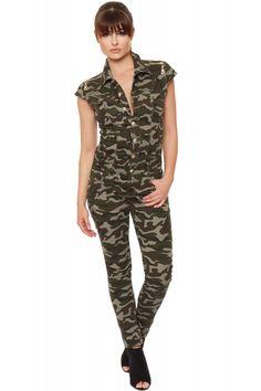 Joleen Camouflage Jumpsuit   Womens Jumpsuits