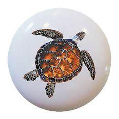 Sea Turtle Ceramic Knob or Drawer Pull