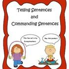 This packet contains many activities to help your students learn the differences between commanding and telling sentences. This includes: * 15 Tell...