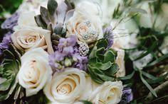 Download wallpapers wedding bouquet, purple roses, beautiful bouquet, wedding jewelry, earrings, jewelry, roses