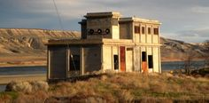 The electrical substation at Hanford, WA, a Manhattan Project site.   Photo: National Trust