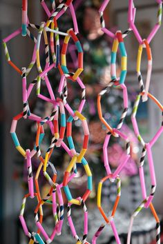 Make Drinking Straw Garland