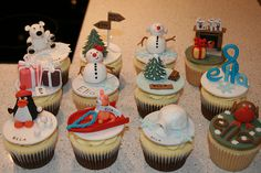 Christmas and winter cupcakes