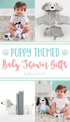 Featuring gender-neutral pieces with sweet puppy dog themes, soft fabrics, and fun prints, the Puppy Love line is perfect for a puppy themed nurseries and future animal lovers. Puppy Nursery Theme, Dog Nursery, Girl Nursery Themes, Baby Shower Themes, Baby Boy Shower, Baby Shower Gifts, Shower Ideas, Baby Puppies, Dog Baby