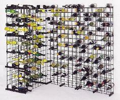 Metal wine rack by Peter Emerson