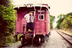 kissing on a train. | by rubysky photography