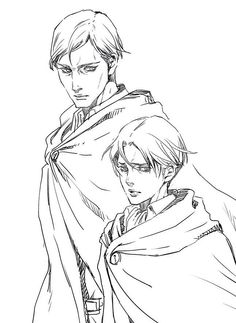 Erwin & Livaï<<Pinning mostly because I have seen Levi's name misspelled but never like THAT like why<<lmao same some people pronounce it as Levy