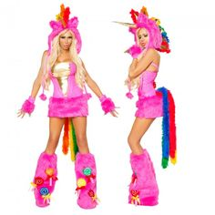 Unicorn costume. I thought it would be funny to go as a my little pony and Geoff as  brony. He thinks it would be funny the other way