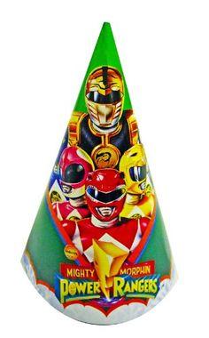 Mighty Morphin Power Rangers Birthday Party Hats