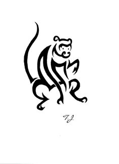 Year of the monkey tribal by Silgan.deviantart.com on @deviantART