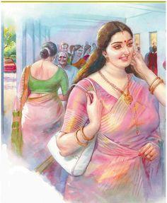 Sexy Painting, Black Art Painting, Woman Painting, Indian Women Painting, Indian Art Paintings, Human Figure Sketches, Indian Art Gallery, Comic Art Girls, Cartoon Girl Drawing