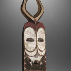 """""""Bembe"""" mask from Congo, ex Belgian's collection 