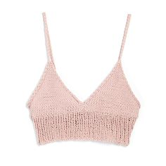 Crocheted Nude Crop Top