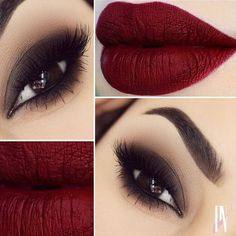 Stunning Vampy Look With Lime Crime Velvetine Liquid Lipstick in Wicked!