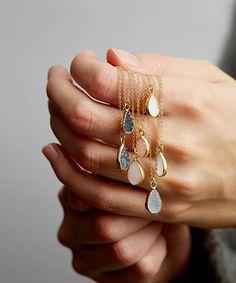 Teardrop Druzy Pendant Necklaces