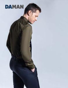 Josh Dallas - Shirt by Calvin Klein Collection, trousers by Ermenegildo Zegna, tie by Tommy Hilfiger