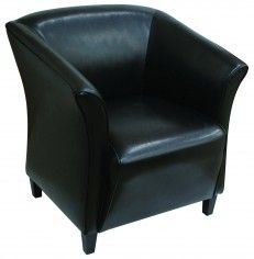 Black Leather Armchair Leather Settee & Armchair Hire