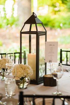 Lanterns as Centerpieces at Wedding Reception
