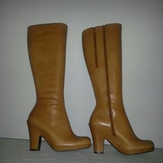 Aerosoles Tan Leather Boots Tall tan leather boots brand new condition, never worn AEROSOLES Shoes