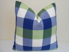 Sale  Plaid Outdoor Pillow Cover  Altizer by ZourraDesigns on Etsy