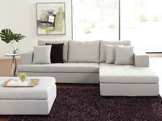 "We finally decided on this one. It was pretty hard to beat this price which also includes the ottoman! Mirak Sectional with Ottoman 110"" W x 65"" D x 27"" H $1395.00"
