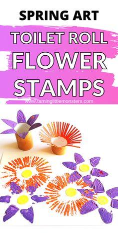 Toilet Roll Stamp Flowers - Spring Art for Kids