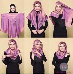 The latest hijab hijab tutorials provide complete instructions . - - The latest hijab hijab tutorials provide complete instructions . Square Hijab Tutorial, Simple Hijab Tutorial, Hijab Style Tutorial, Scarf Tutorial, Hijab Tutorial Segi Empat, Hijab Chic, Stylish Hijab, Hijab Mode Inspiration, Fashion Design Inspiration