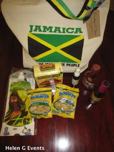 Jamaica Welcome Bags for your wedding or event guests to Jamaica by Helen G Events www.helengevents.com #jamaicawelcomebags #jamaicaweddingfavors