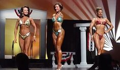 Barbie Thomas, centre, lost both her arms aged two and has been competing as a body builder for over a decadeWhen you think it's hard- think of her!