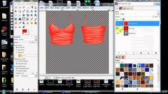 Secondlife Template Tutorial for GIMP, via YouTube.