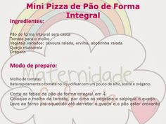 Reeducação Alimentar com Alimentação Saudável: Mini Pizza de Pão de Forma