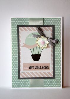 Get Well Soon Handmade Card by SusanTracie on Etsy, $6.25