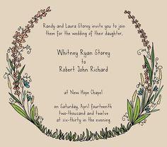 wstoreyshop - My wedding invitation - original and hand-drawn