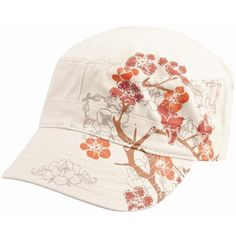 Women's Cherry Blossom Hat ($24) ❤ liked on Polyvore