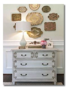 This post has a GREAT list, plus images for each idea, of What to Hang on the Wall. I love art and photos, but it is so nice to shake things up and have other ideas for wall decor! besides art and photos. Saving this! #interiors #walldecor #interiors via @FieldstoneHill Design, Darlene Weir Design, Darlene Weir Design, Darlene Weir