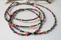Brillenketten - Brillenkette schwarz-bunt.... - ein Designerstück von soschoen bei DaWanda
