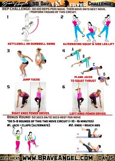 Day 15 - #fitchicks - 30 Day Fat Fryer Challenge - rep challenge - kettlebell swing, jump tuck, plank jack, squat thrust, knee drive, jumping jacks, abs, cardio, HIIT, at home workout, free workout, bodyweight workout
