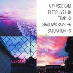 LV3 +8 Temperature -3 Shadows Save +5 Saturation +3